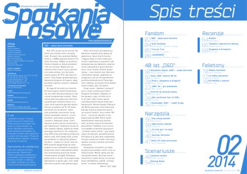 """""""Spotkania Losowe"""" nr2/2014 – rozkładówka"""